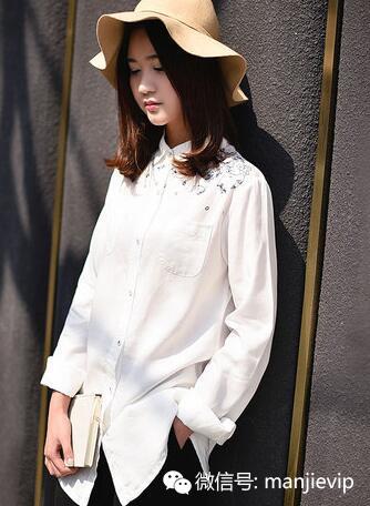 春季新款时尚简洁大方气质衬衫 美观百搭